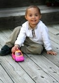 boy toddler with truck