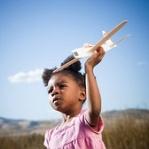 girl toddler w airplane