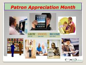 Patron Appreciation Month 11292012